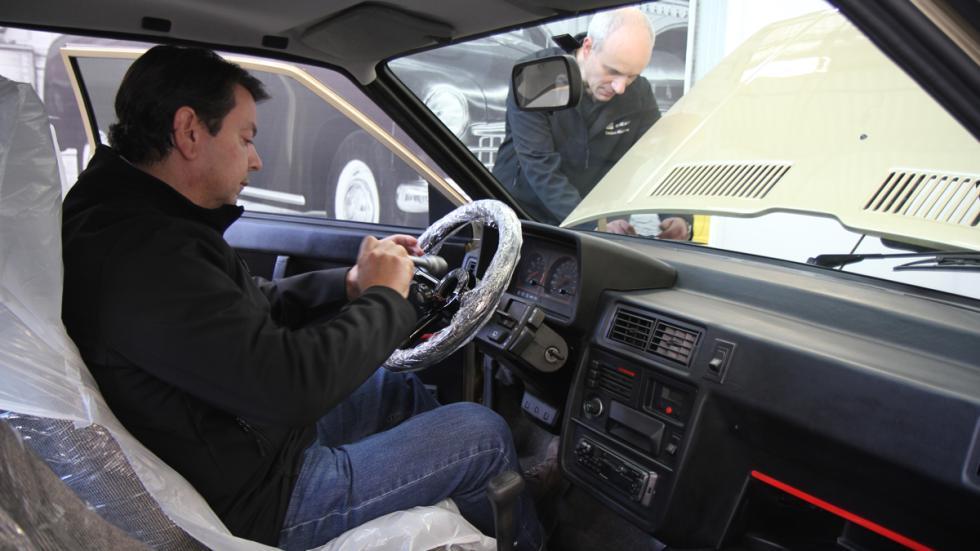 Primer coche de Felipe VI volante