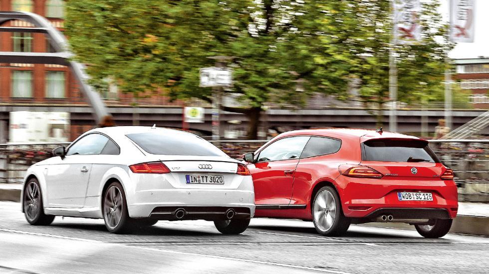 Comparativa Audi TT 2014 vs Volkswagen Scirocco