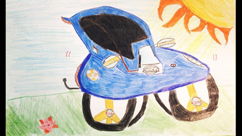 dibujo infantil prototipo Nissan 4x4 dibujo