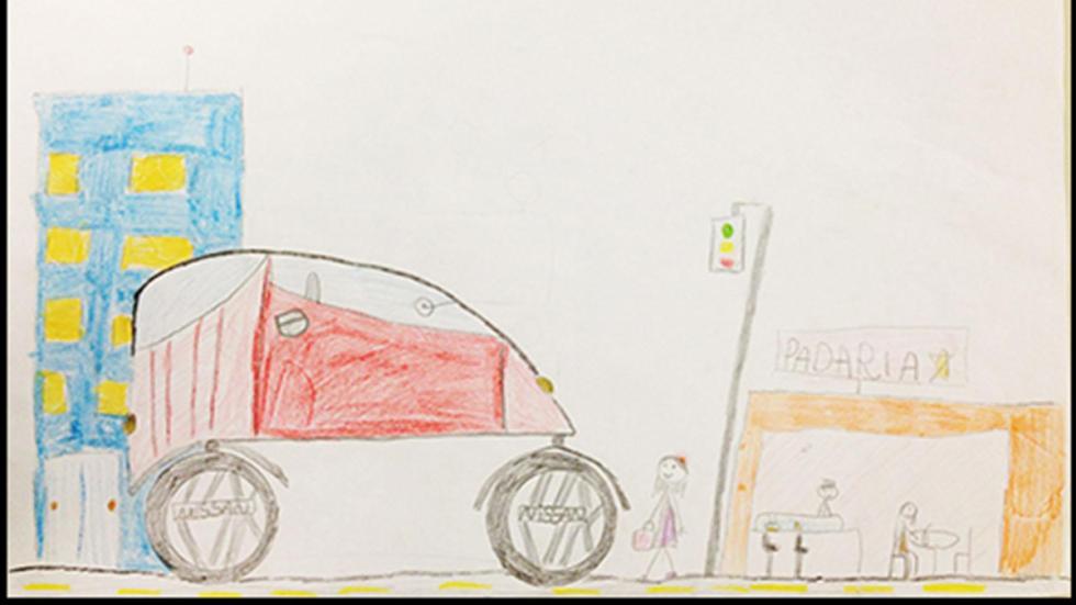 dibujo infantil prototipo Nissan 4x4 urbano dibujo