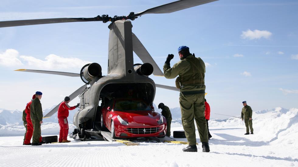 Mejores deportivos invierno Ferrari FF