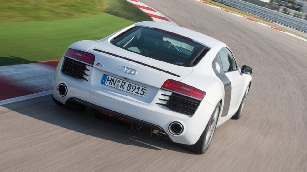 Mejores deportivos invierno Audi R8 zaga