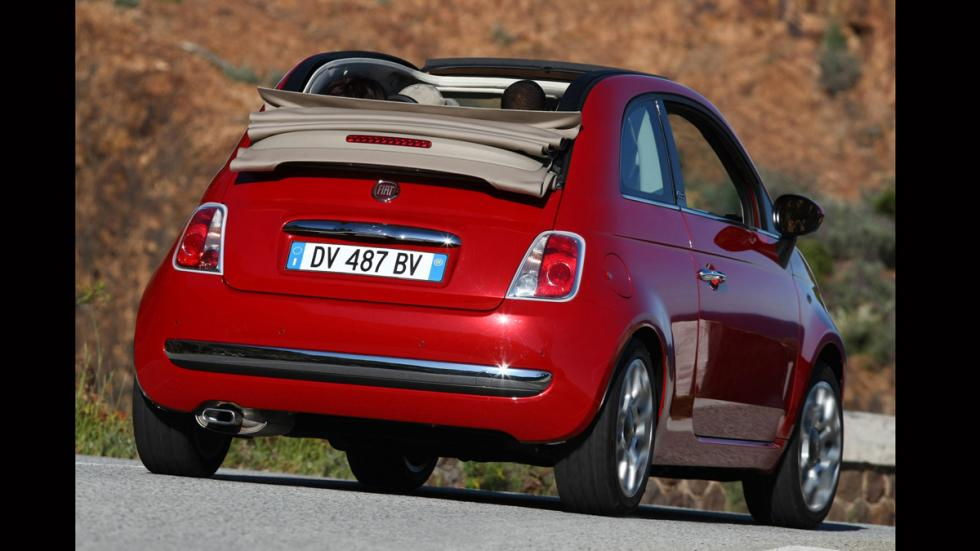 Fiat 500C trasera