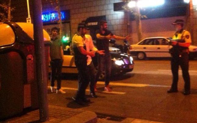 Discusión pique policia barcelona 2