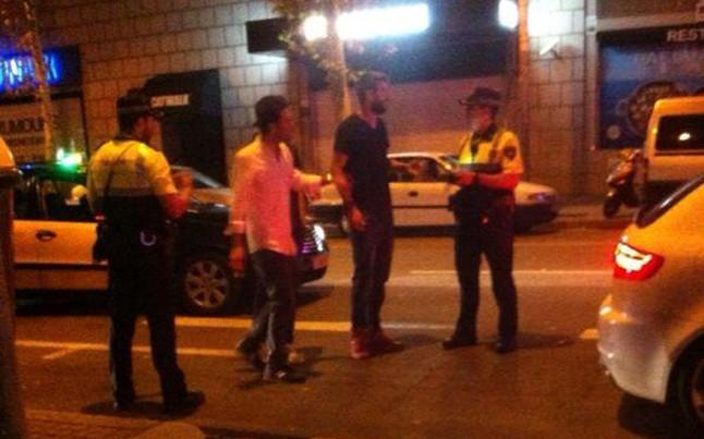 Discusión pique policia barcelona 4