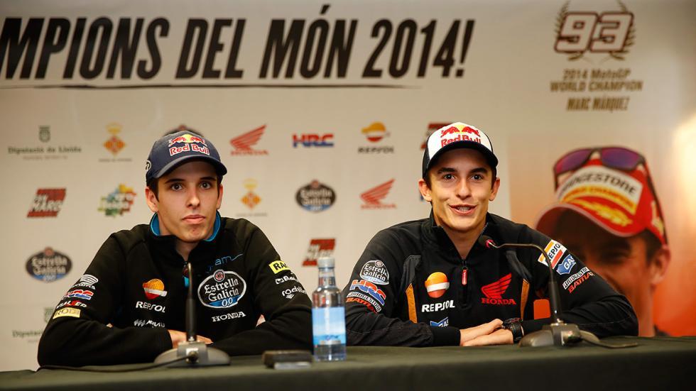 celebración Marc y Alex Márquez 2