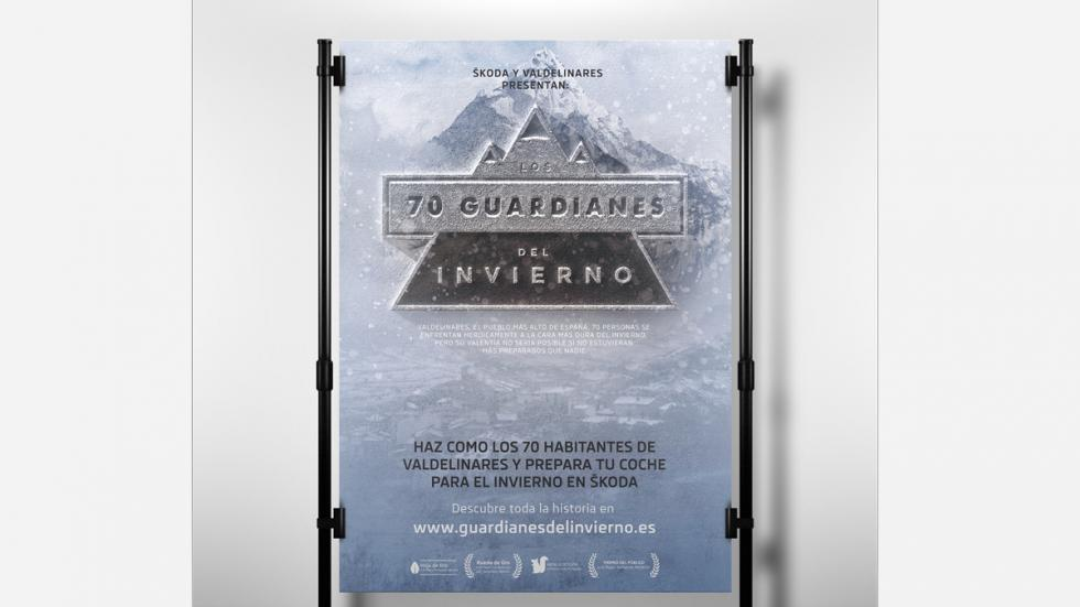 cartel 70 guardianes del invierno Skoda