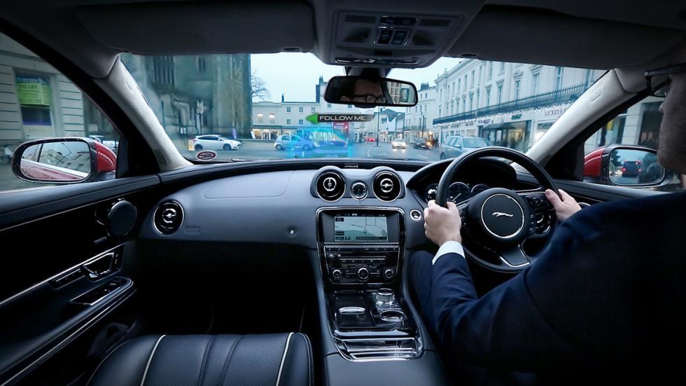 Jaguar Land Rover Follow-Me Ghost Car Navigation
