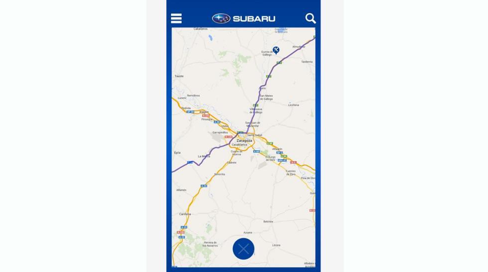 'Subaru Esquí' Mapa acceso
