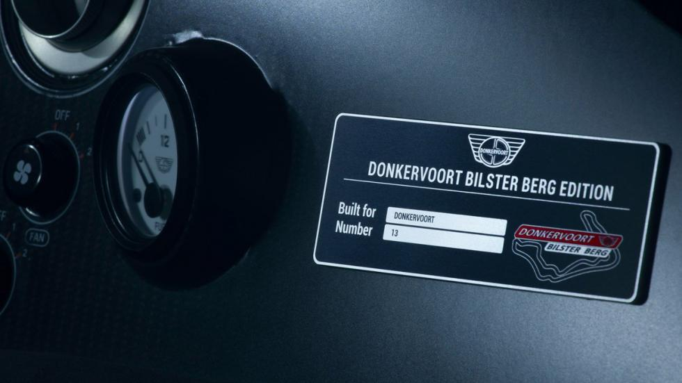 Donkervoort Bilster Berg Edition placa