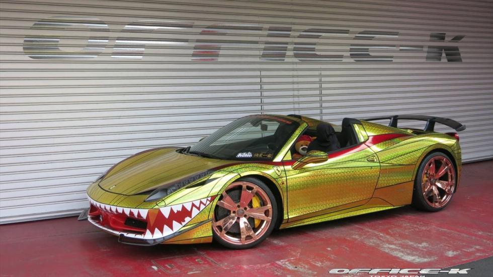 Ferrari 458 Spider Golden Sharck Office-K