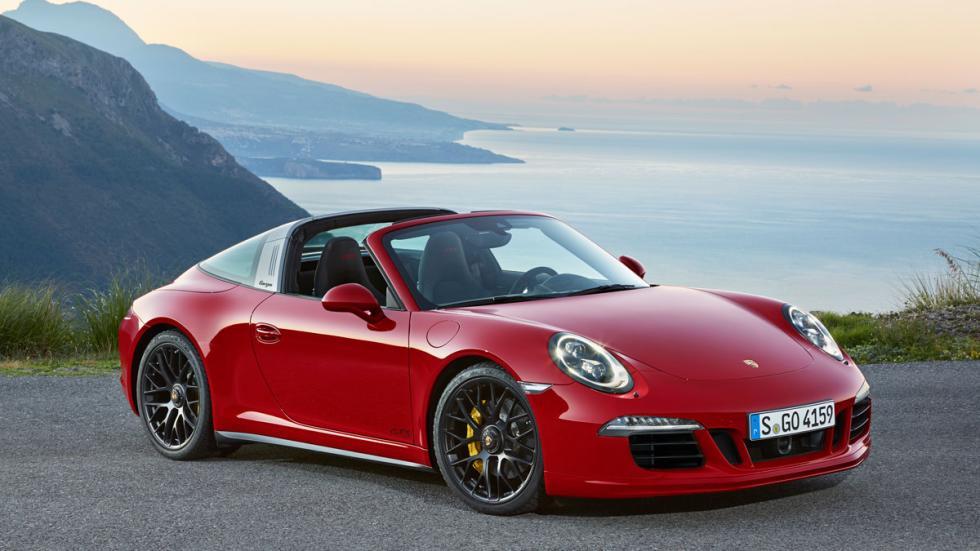 Porsche 911 Targa 4 GTS tres cuartos delantera