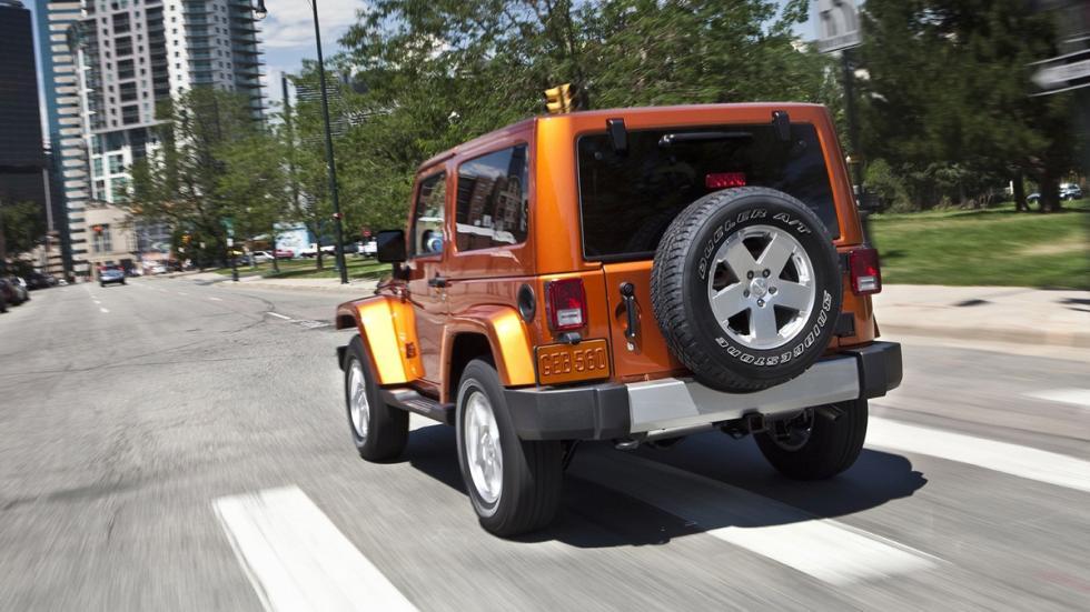 coches perfectos Ruta 66 Jeep Wrangler zaga