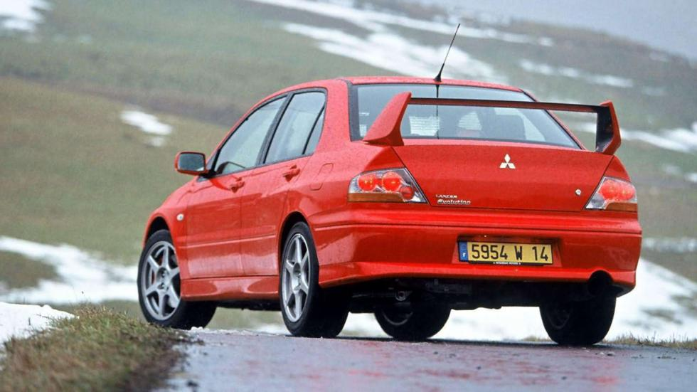 coches reyes nieve Mitsubishi Lancer EVO zaga