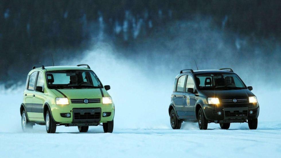 coches reyes nieve Fiat Panda 4x4 zaga