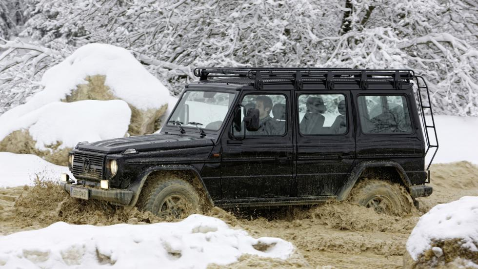 coches reyes nieve Mercedes Clase G