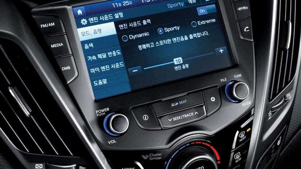 Hyundai Veloster 2015 consola