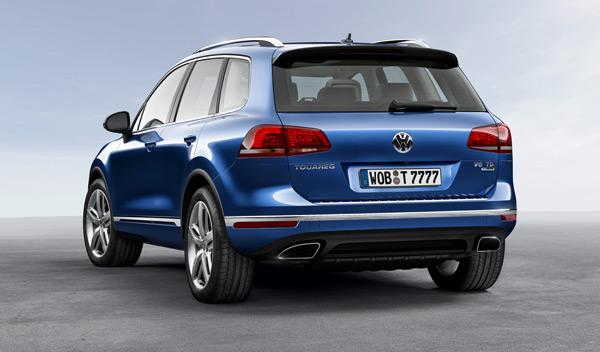 VW Touareg 2014 tres cuartos traseros