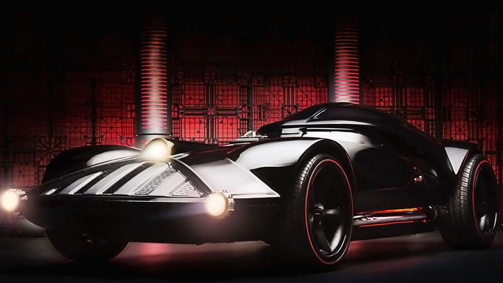El Corvette de Darth Vader detalle tres cuartos lateral