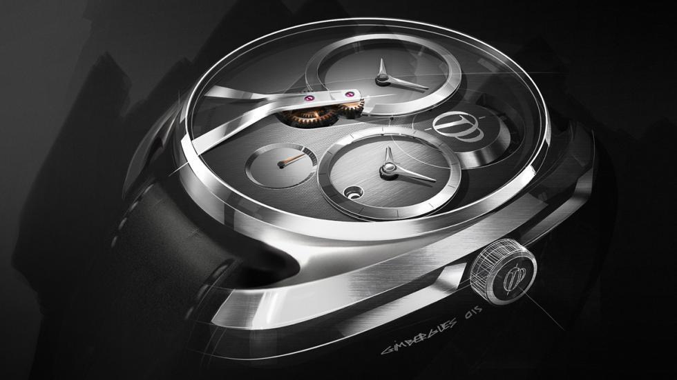 Reloj concept de Pecqueur Conceptuals porPeugeot Design Lab detalle