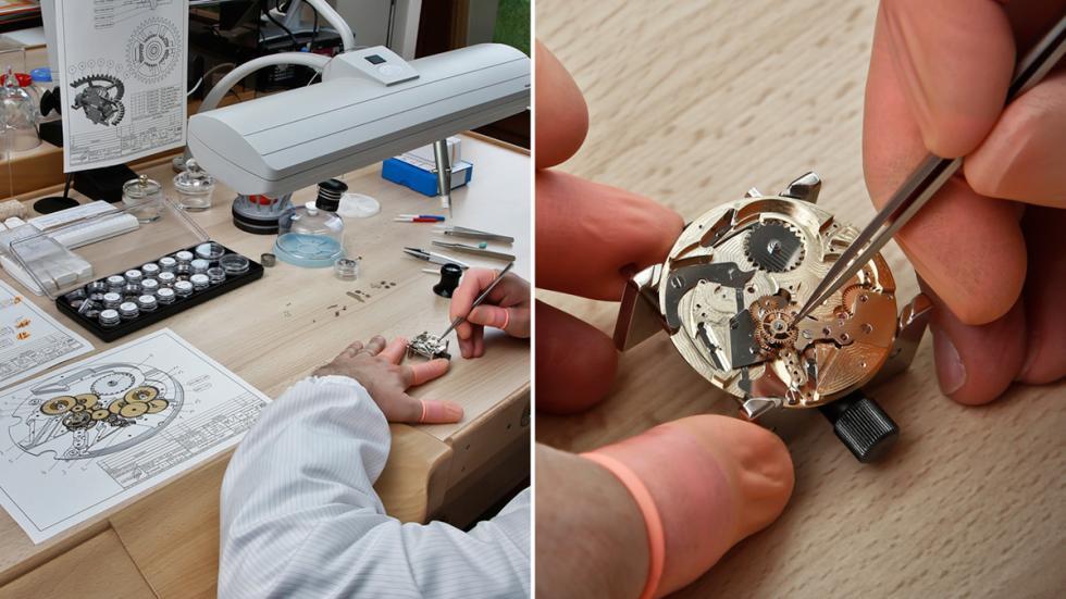 Reloj concept de Pecqueur Conceptuals porPeugeot Design Lab maquinaria