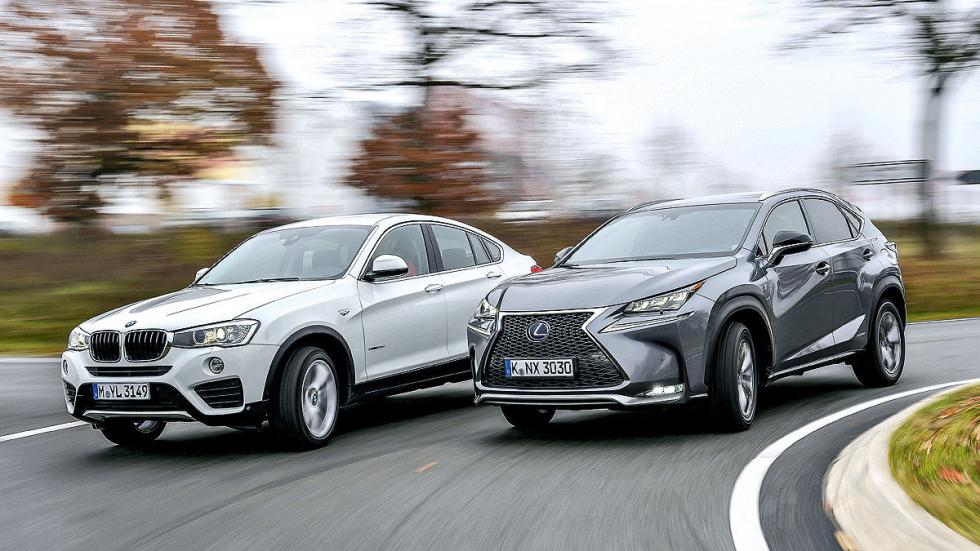 Comparativa: BMW X4 20d vs Lexus NX 300h