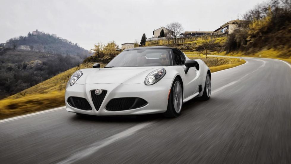 Alfa Romeo 4C Spider tres cuartos movimiento