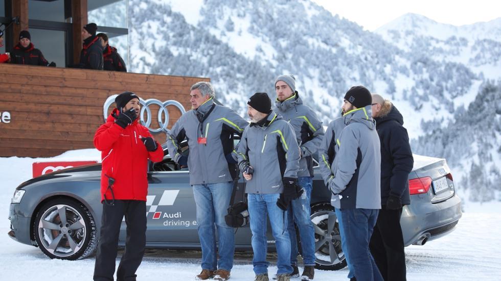 Vivimos la Audi Driving Experience Baqueira 2015 instrucciones monitores