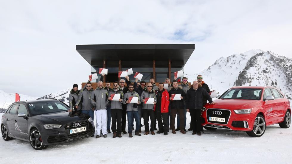 Vivimos la Audi Driving Experience Baqueira 2015 foto de grupo