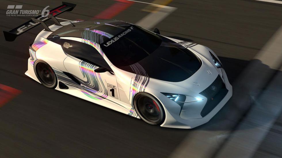 Lexus LF-LC Vision Gran Turismo aerea