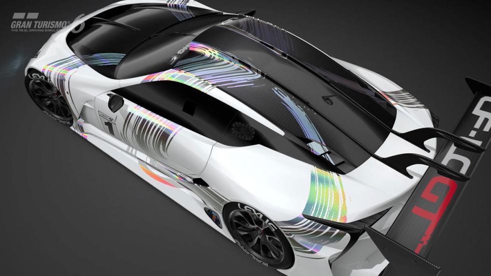 Lexus LF-LC Vision Gran Turismo aerea trasera
