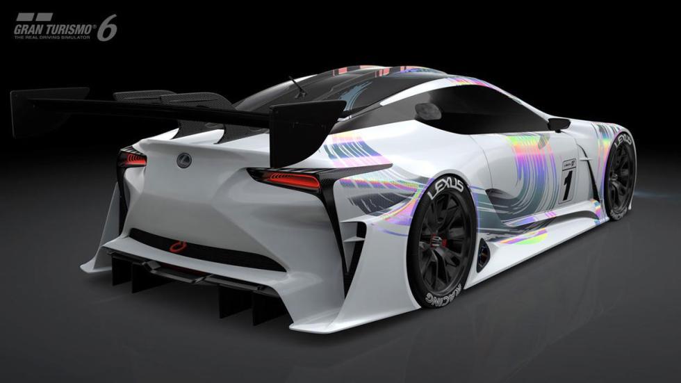 Lexus LF-LC Vision Gran Turismo tres cuartos traseros