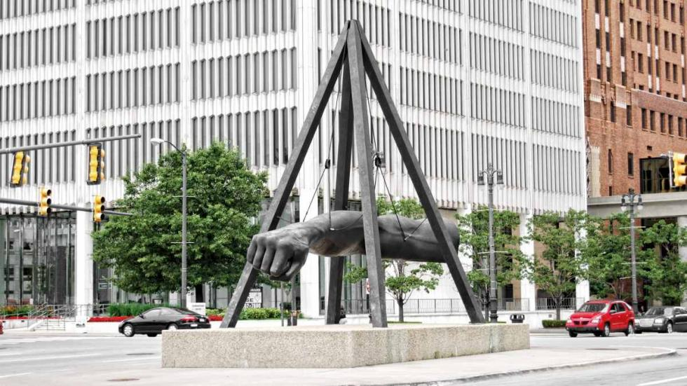 detroit monumento joe louis