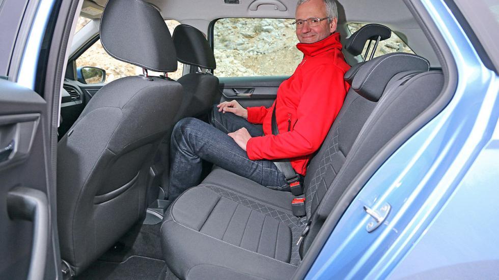 Skoda Fabia Combi asientos interior traseras