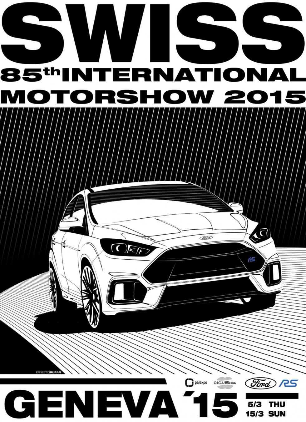 Ford Focus RS 2015 salon ginebra