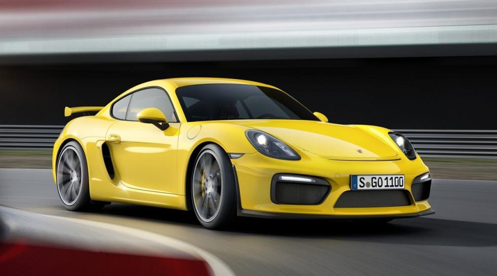 Porsche Cayman GT4, amarillo
