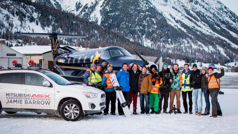 Snowboard-tirado-por-un-avión - Grupo
