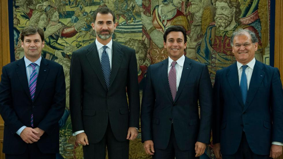 Rey Felipe VI recibió en visita oficial a Mark Fields 2