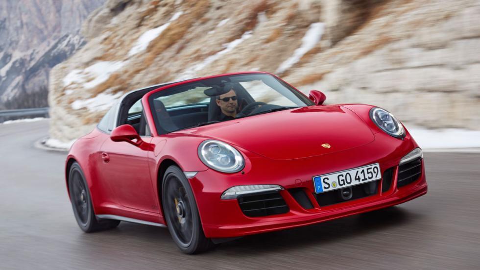 Porsche presenta el 911 Targa 4 GTS en el Salón de Detroit 2015.