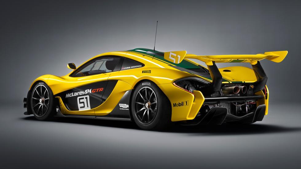 McLaren P1 GTR tres cuartos traseros
