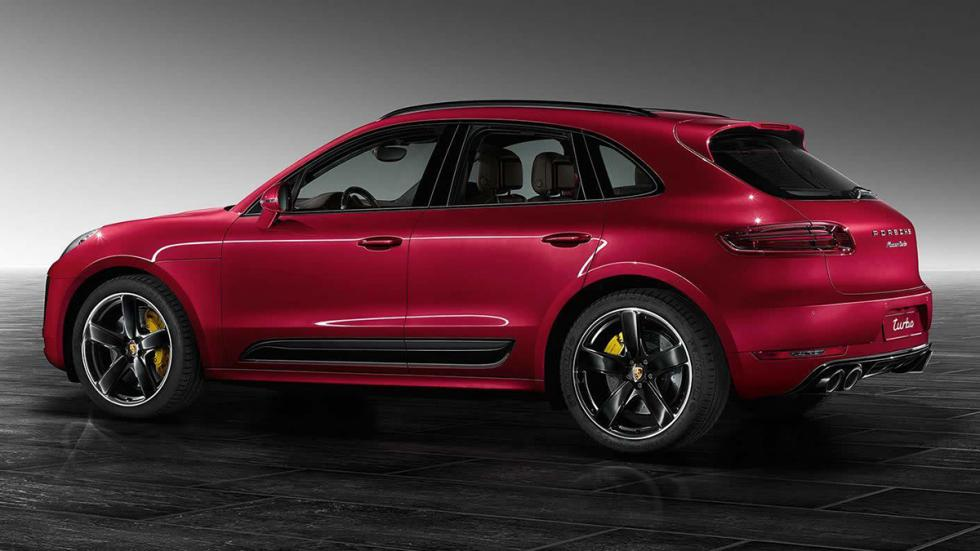 Porsche Macan turbo Red Metallic llantas
