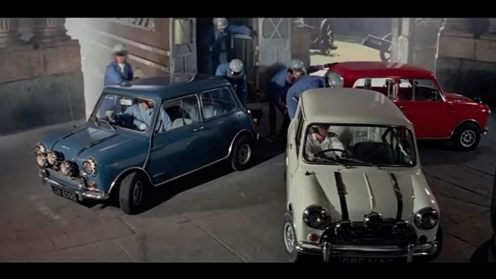 The Italian Job - Mini azul, blanco y rojo