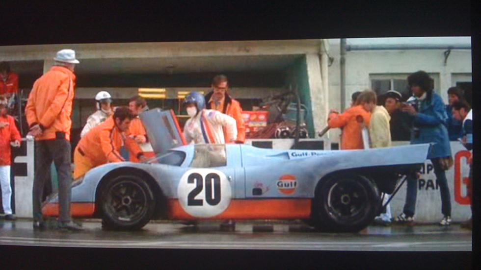Le Mans - Porsche 917k - película - boxes