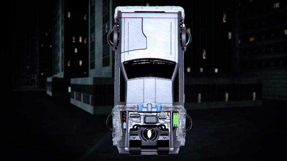 Carcasa DeLorean - Regreso al Futuro - vista aérea