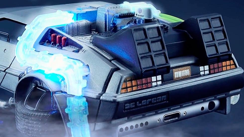 Carcasa DeLorean - Regreso al Futuro - iluminación trasera