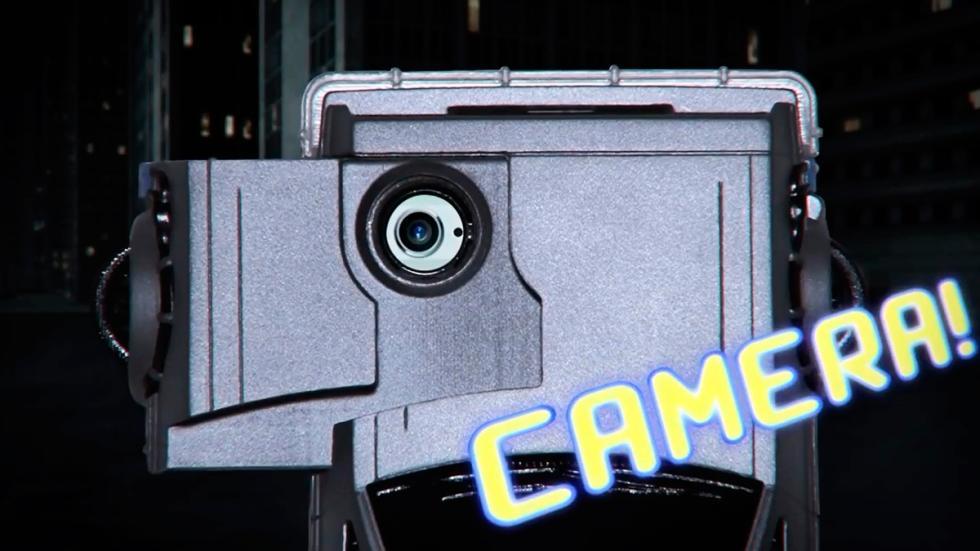 Carcasa DeLorean - Regreso al Futuro - hablando teléfono - cámara