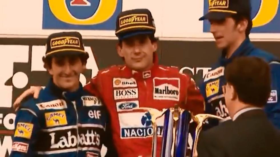 Senna - podio