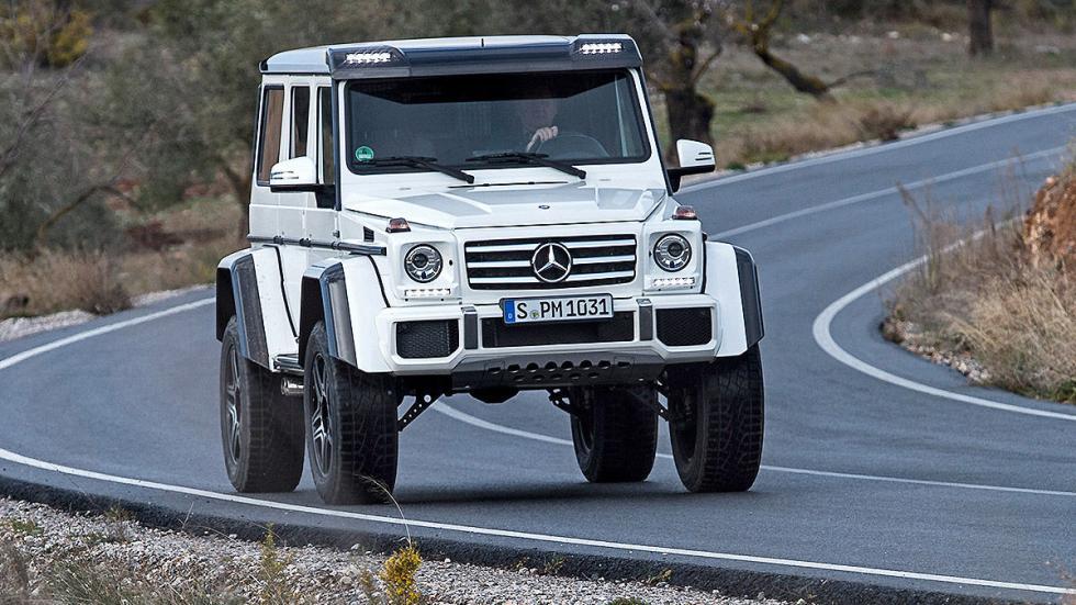 Prueba: Mercedes G 500 4x4² curva