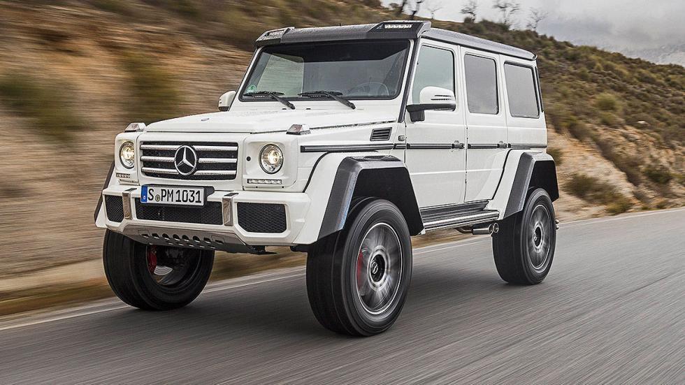 Prueba: Mercedes G 500 4x4² curva dinámica
