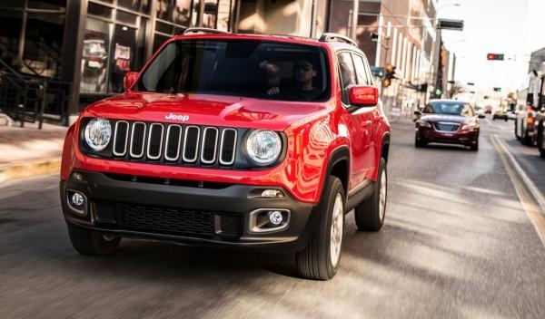 Delantera del Jeep Renegade